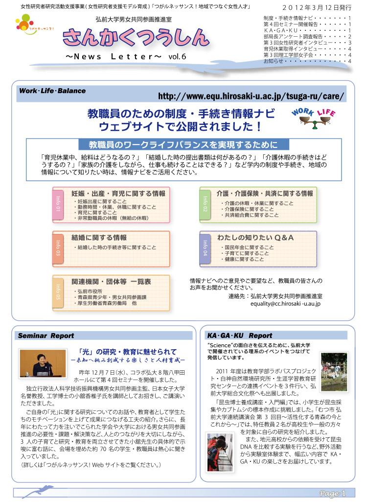 さんかくつうしん vol.6